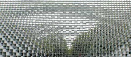 Serpentine Pavilion, Bjarke Ingels Group, BIG, London, OMA, Rem Koolhaas, modular hollow fibreglass boxes, aluminium extrusions, parametric system, Serpentine Galleries.
